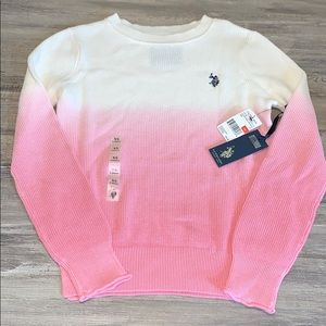 🆕 NWT Polo Pink and white ombré Sweater